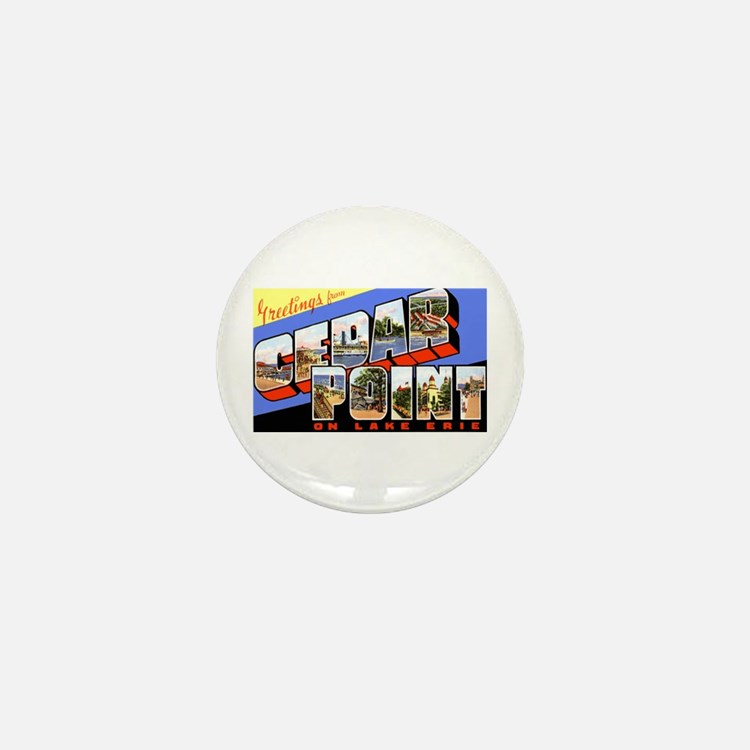 Cedar Point Ohio Greetings Mini Button