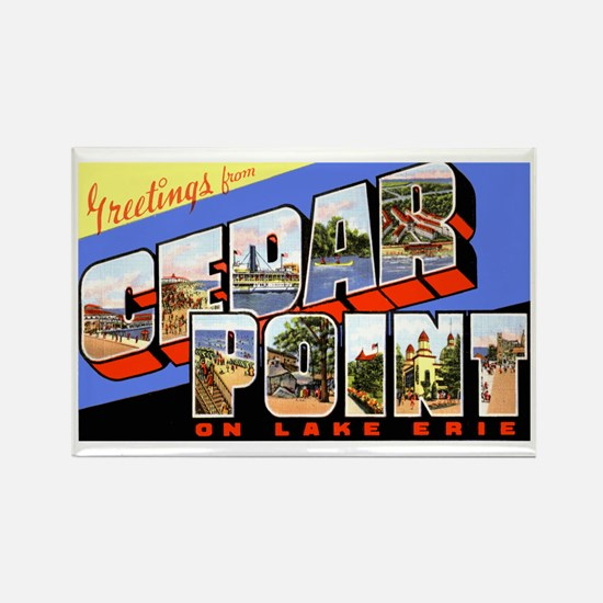 Cedar Point Ohio Greetings Rectangle Magnet