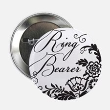 "Elegant Floral Ring Bearer 2.25"" Button"