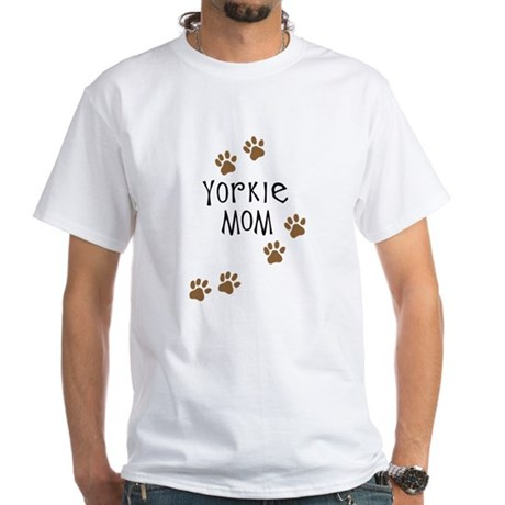 Yorkie Mom White T-Shirt