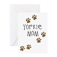 Yorkie Mom Greeting Card