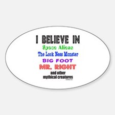 MR. RIGHT Oval Decal