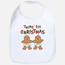 Twins' 1st Christmas Bib