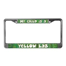 My Kid Yellow Lab License Plate Frame
