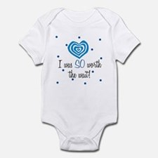 I was worth the Wait Blue Baby Infant Bodysuit