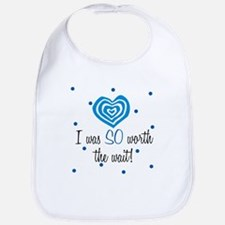 I was worth the Wait Blue Baby Infant Toddler Bib