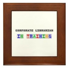 Corporate Librarian In Training Framed Tile