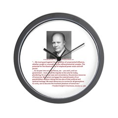 Still Liking Ike Wall Clock