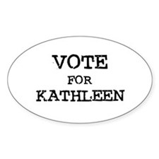 Vote for Katherine Oval Decal