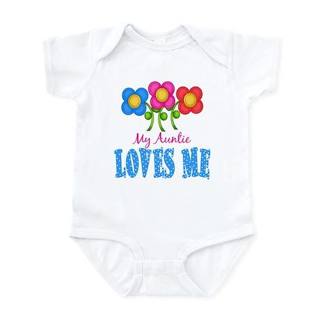 My Auntie Loves Me Flowers Baby Infant Bodysuit