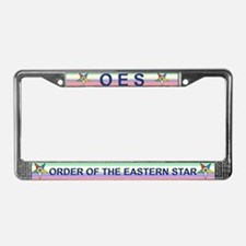 OES License Plate Frame w/rainbow