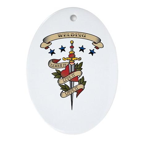 Love Welding Oval Ornament