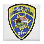 Montana Highway Patrol Tile Coaster
