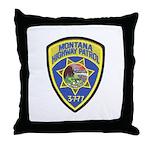 Montana Highway Patrol Throw Pillow