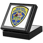 Montana Highway Patrol Keepsake Box