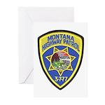 Montana Highway Patrol Greeting Cards (Pk of 10)