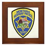Montana Highway Patrol Framed Tile