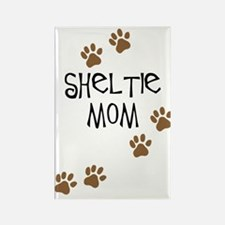Sheltie Mom Rectangle Magnet (10 pack)