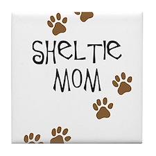 Sheltie Mom Tile Coaster
