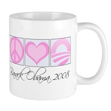 Cute Pink obama Mug