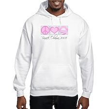 Cute Pink obama Hoodie