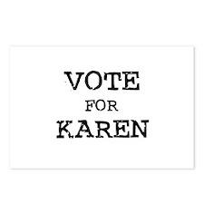 Vote for Karen Postcards (Package of 8)