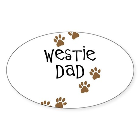Westie Dad Oval Sticker