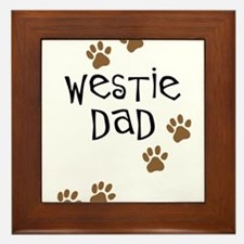 Westie Dad Framed Tile