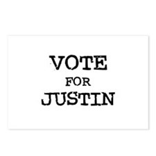 Vote for Justin Postcards (Package of 8)