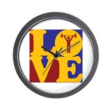 Weight Lifting Love Wall Clock