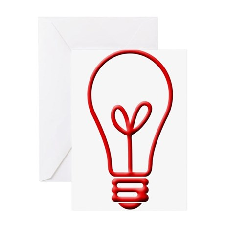 Red Bulb Greeting Card
