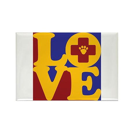 Veterinary Medicine Love Rectangle Magnet (100 pac