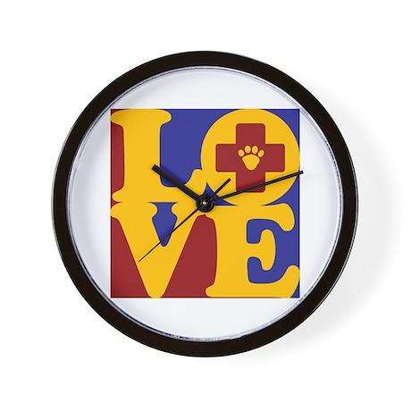 Veterinary Medicine Love Wall Clock