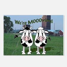 We're Moooving! Postcards (Package of 8)