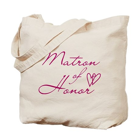 Hearts Matron of Honor Tote Bag
