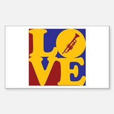 Trumpet Love Rectangle Decal