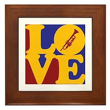 Trumpet Love Framed Tile