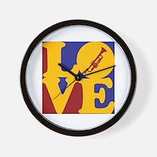 Trumpet Love Wall Clock