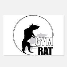 Cute Gym rat Postcards (Package of 8)