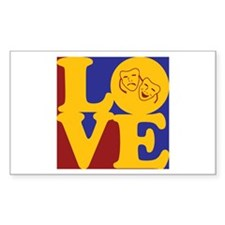 Theater Love Rectangle Decal