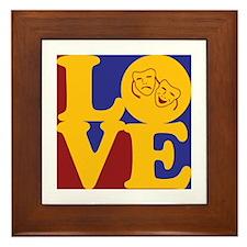 Theater Love Framed Tile