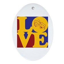 Theater Love Oval Ornament
