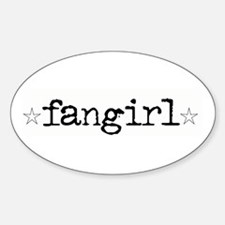 Fangirl Oval Decal