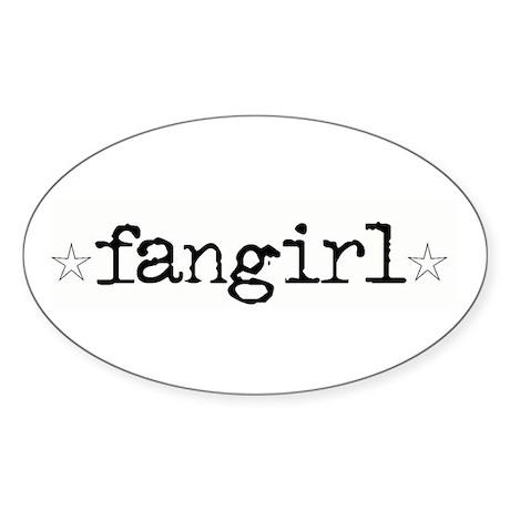 Fangirl Oval Sticker