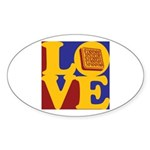 Systems Engineering Love Oval Sticker