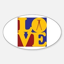 Surveying Love Oval Decal