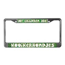 My Children Kooikerhondje License Plate Frame