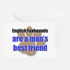 English Foxhounds man's best friend Greeting Cards