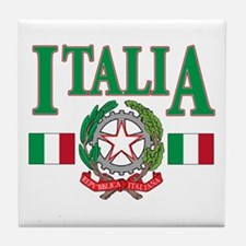 Italian pride Tile Coaster