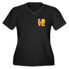 Squash Love Women's Plus Size V-Neck Dark T-Shirt